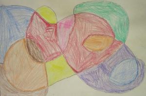 kindergarten- circles and loops- crayons