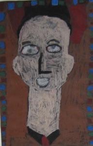 1st grade Modigliani portraits- oil pastel