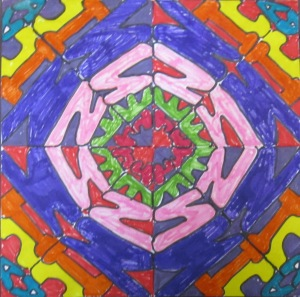 5th grade name mandala- marker
